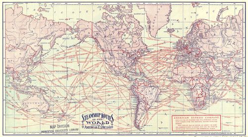 Steamship Routes Circa 1900